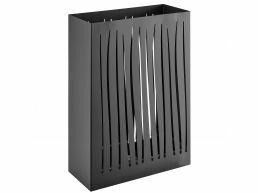 Metalen design paraplubak - rechthoekig - zwart