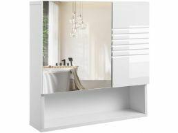 Kast met spiegel - 55x54 cm - wit