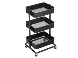 Keukentrolley - metaal - 3 niveaus - zwart