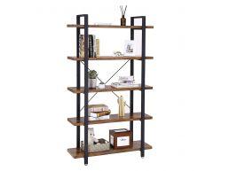 Boekenkast - industriële stijl - 5 legplanken - 105x177.5x33.5 cm - vintage bruin