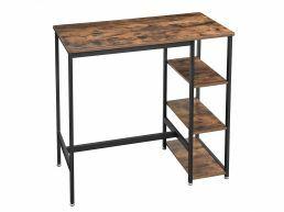 Hoge bartafel - vintage - solide metalen frame - 109x100x60 cm - vintage bruin