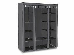 Kleerkast - opvouwbaar - 150x175x45 cm - grijs