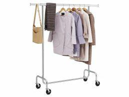 XL mobiel kledingrek - verstelbaar - 110x160x45 cm - zilvergrijs