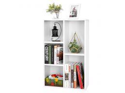 Boekenkast - met 5 compartimenten - 50x80x24 cm - wit