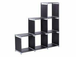 Boekenkast - 6 vakken - 105x105x29 cm - zwart