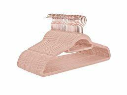 Antislip kledinghangers - plooibaar - roterende haak - 30 stuks - roze