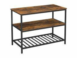 Keukenrek - 3 legplanken - 120x90x60 cm - vintage bruin