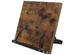 Leesstandaard - Kookboekdisplay - opvouwbaar en verstelbaar - 35x24x1.2 cm - vintage bruin