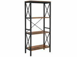 Boekenkast - industriële look - 4 legplanken - 60x133x30 cm - vintage bruin