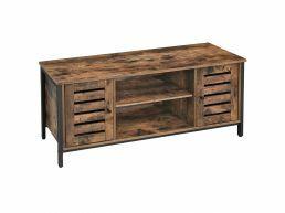 Tv-meubel - industriële look - 2 deuren - 110x50x40 cm - vintage bruin