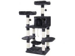 XXL krabpaal - voor meerdere katten - 55x150x45 cm - donkergrijs
