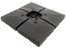 Tweedekans - Set van 4 parasoltegels - 80 kg - met water te vullen - zwart