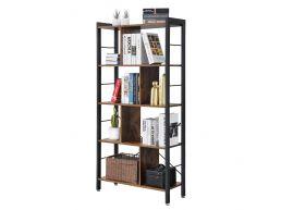 Tweedekans - Boekenkast - industriële look - 74x154.5x30 cm - vintage bruin
