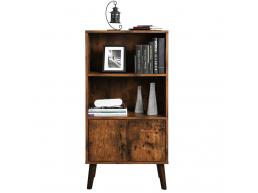 Tweedekans - Boekenkast - vintage look - open en gesloten - 60x120x30 cm - vintage bruin