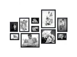 Deknudt - 10 fotokaders - zwart