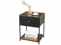 Nachtkastje - met lade - 48x63x40 cm - vintage bruin