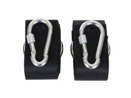 Karabijnhaken en ophangbanden - bevestigingsset - voor hangmat - zilvergrijs