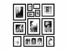 Fotomuur IV Toronto - 12 fotokaders - zwart