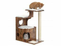 Krabpaal - voor 1 of meerdere katten - 66x88x42 cm - vintage bruin