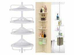 Praktisch doucherek - 4 schappen - verstelbaar in hoogte - wit