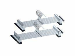 Antislip kledinghangers - large - 40 cm lang - verstelbare knijpers - roterende haak - 20 stuks - zilvergrijs