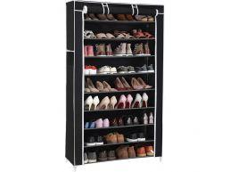 Tweedekans - Schoenenrek - 40 paar schoenen - 88x160x28 cm - zwart