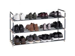 Schoenenrek - stapelbaar - 92x54x30 cm - grijs