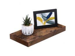 Rustieke zwevende wandplank - 40x3.8x20 cm - vintage bruin