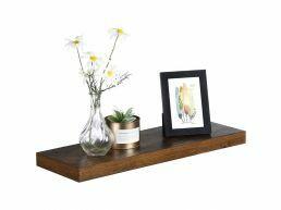 Rustieke zwevende wandplank - 60x3.8x20 cm - vintage bruin