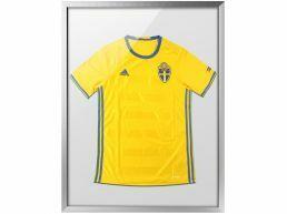 Kader voor t-shirt collectie - diepe lijst van 60x80 cm - zilvergrijs
