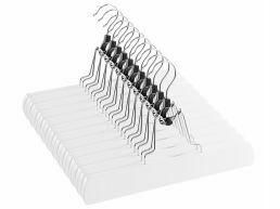 Antislip broekhangers of rokhangers - met klemmen - 360° draaibare haak - 12 stuks - wit