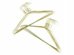 Luxe kledinghangers - 60 stuks - goud