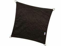 Coolfit - schaduwzeil - vierkant 3,6x3,6 m - zwart