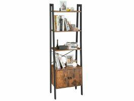 Boekenkast - vintage look - 3 legplanken 2 deuren - 56x173x34 cm - vintage bruin