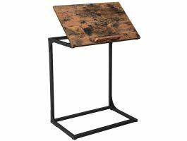 Bijzettafel - verstelbaar oppervlak -  industriële stijl - 55x66x35 cm - vintage bruin