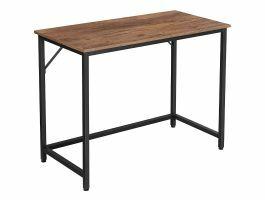 Bureau - smal - industriële look - 100x75x50 cm - hazelnoot bruin