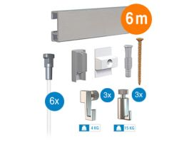 Artiteq - ophangsysteem - 6 m - click rail - aluminium