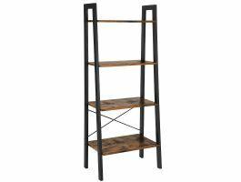 Boekenkast - industriële look - 56x137x34 cm - bruin/zwart