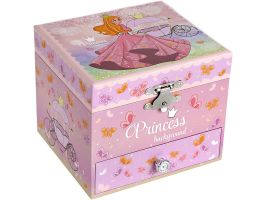 "Juwelendoosje met muziek - prinses en vlinder - ""Somewhere Over The Rainbow"" melodie - roze"