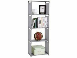 Boekenkast - 4 vakken - 50x147x30 cm - grijs