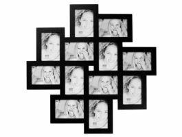 Deknudt - multifoto 12 foto's - 10x15 cm - zwart