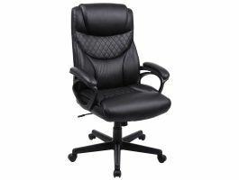 Luxe design manager bureaustoel - ergonomisch - kunstleer - zwart