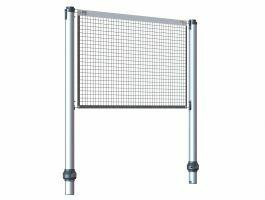 Gard & Rock - uitschuifbare palen - multisport - met net - aluminium