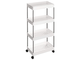 Opbergtrolley - 4 niveaus - 40x86x22 cm - wit