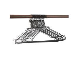 Luxe kledinghangers - 60 stuks - zwart