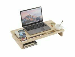 Monitorstandaard - voor laptop of pc - 60x8.70x30 cm - bamboe