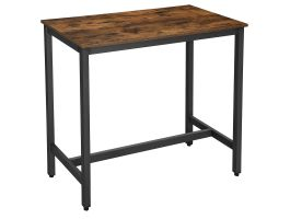ACAZA Hoge bartafel - Tafel van 120x105x60 cm - vintage bruin/zwart
