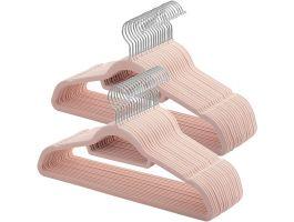 Antislip kledinghangers - plooibaar - roterende haak - 50 stuks - roze