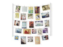Umbra Hangit - houten frame met fotodraden - wit