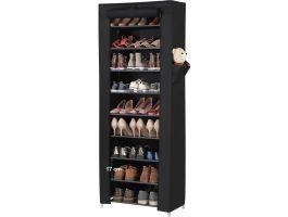 Schoenenrek - 27 paar schoenen - 58x160x28 cm - zwart